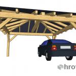 Štirikapni nadstrešek 600x600cm primer