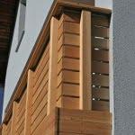 Balkon Jesenice sibirski macesen spodaj