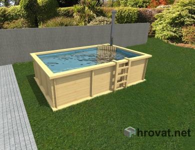 Lesen bazen z ogrevanjem 2,5m x 4m