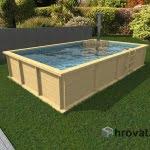 Lesen zunanji bazen s pečjo na drva 3,5mx6m