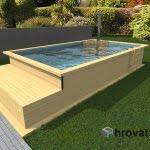 Lesen bazen s pečjo na drva in ležalnikom 3,5m x 6m