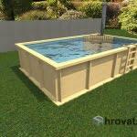 Lesen bazen s pečjo na drva 3m x 5m