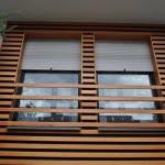 Lesena fasada Zelezniki detajl oken