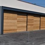 Lesena fasada izdelana iz Iroka cela