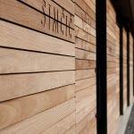 Lesena fasada izdelana iz Iroka detajl 2