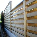 Lesena ograja Celje druga stran