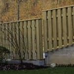 Lesena ograja Cerklje spredaj