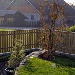 Lesena ograja Cerklje vrt