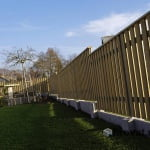 Lesena ograja Cerklje z desne