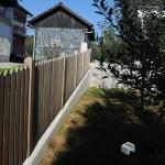 Lesena ograja Cikava z leve cela