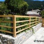 Lesena ograja Kranjska Gora kot