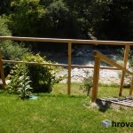 Lesena ograja Kranjska Gora stopnice
