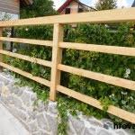 Lesena ograja Kranjska Gora vrt