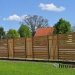 Lesena ograja Krsko druga stran