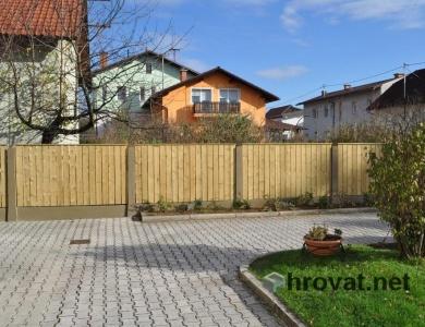 Lesena ograja Ljubljana 5