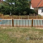Lesena ograja Maribor spredaj