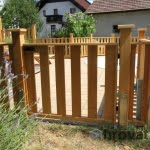 Lesena ograja Maribor vrata