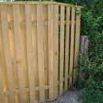 Lesena ograja Radovljica kotna