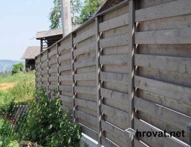 Lesena ograja Ratež z desne