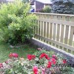 Lesena ograja Trzin vrt