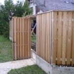 Lesena ograja Vic vrata