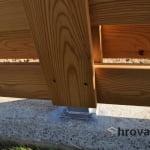 Lesena ograja Vodice detajli