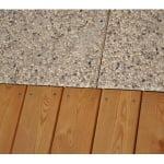 Lesena terasa Črnuče detajli