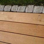 Lesena terasa Črnuče od blizu