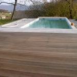 Lesena terasa Moravče z bazenom
