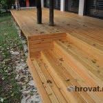 Lesena terasa Pirnice stopnice 3