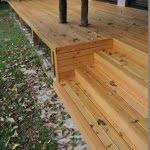 Lesena terasa Pirnice stopnice dve