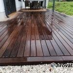 Lesena terasa Predvor spredaj