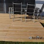 Lesena terasa Radovljica spredaj