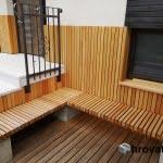 Lesena terasa Stahovica s klopjo