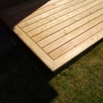 Lesena terasa Vodice kotni element