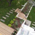Lesena terasa idrija letalski pogled 2