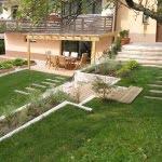 Lesena terasa idrija vrt