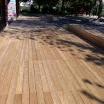 Lesena terasa pred vrtcem sprednja