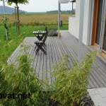 Lesena terasa vodice od daleč