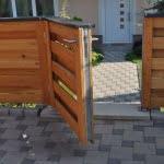Lesena vrtna vrata