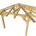 Nadstrešek 400x400cm skelet