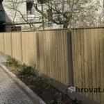 Obnova lesene ograje Ljubljana z desne