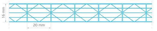 Polikarbonatna plošča X struktura