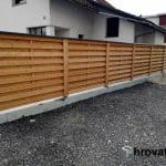 Vodoravna ograja Ljubljana spredaj