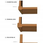 Vogalni zaključki lesenih fasad