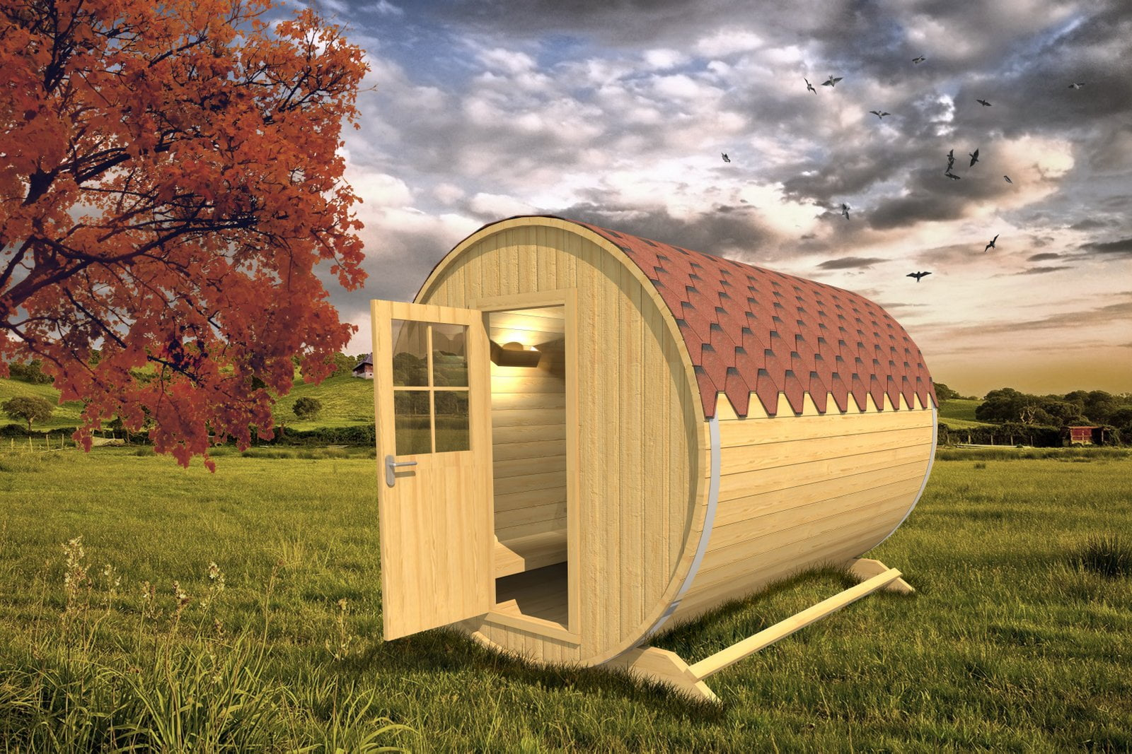 Glamping Wine Barrel