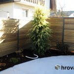 lesena ograja domzale spredaj