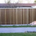 lesena ograja impregniran macesen spredaj