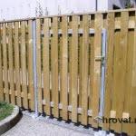 lesena ograja ljubljana z vrati