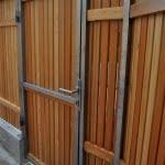 lesena ograja vizmarje konstrukcija